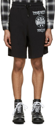 Moschino Black Logo Shorts $275 thestylecure.com