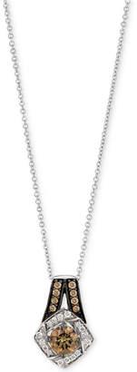 LeVian Le Vian Chocolatier Diamond Pendant Necklace (5/8 ct. t.w.) in 14k White Gold