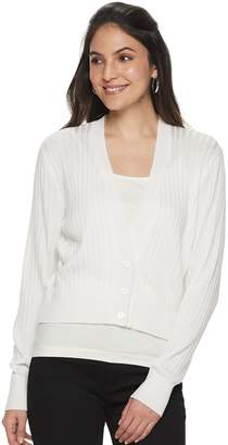 Apt. 9 Women's Ribbed Crop Cardigan