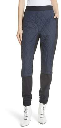 Tibi Mix Media Quilted Jogger Pants