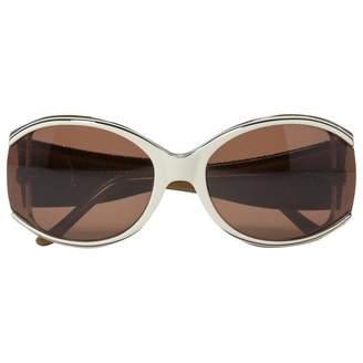 Judith Leiber Beige Plastic Sunglasses