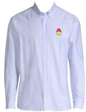 Ami Smiley Button-Down Shirt