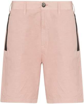 Stone Island Shadow Project zip pocket knee-length Bermuda shorts
