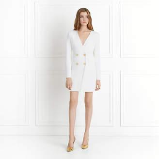Rachel Zoe Betty Double-Breasted Wrap Effect Mini Dress
