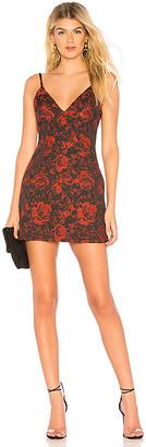 About Us Allana Brocade Mini Dress