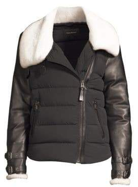 Mackage Women's Jovie Sheepskin Down Jacket - Black - Size Medium