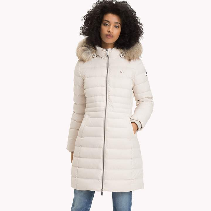 Faux Fur Hood Puffer Coat