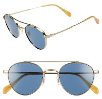 Oliver Peoples Watts 49mm Round Sunglasses