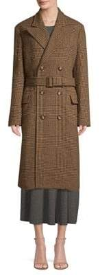 Polo Ralph Lauren Wool Houndstooth Trench Coat