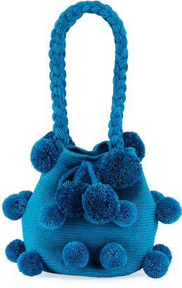 Casa Chiqui Mochila Con Pompoms Bucket Bag