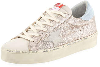 Golden Goose Hi Star Metallic Leather Sneakers