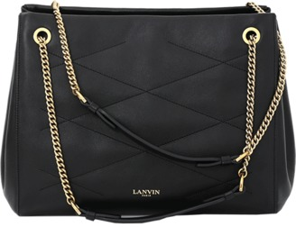 LANVIN Medium Zipped Sugar Bag $2,490 thestylecure.com