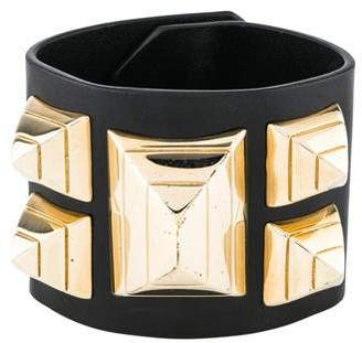 Givenchy Leather Studded Wrap Bracelet
