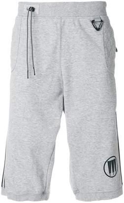 adidas tree striped track shorts