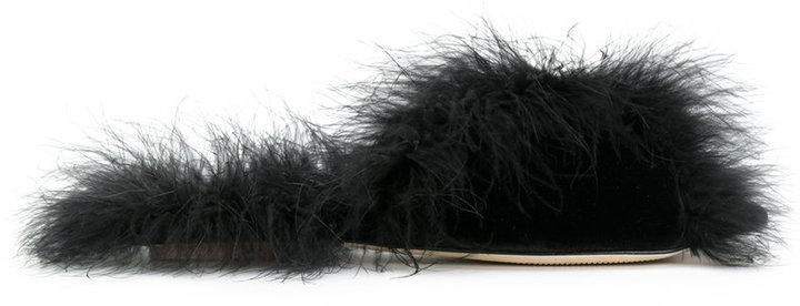 Simone Rocha feather sandals