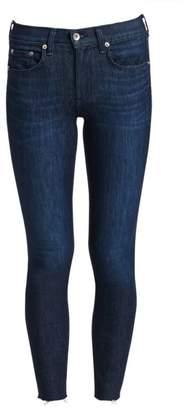 Rag & Bone Mid-Rise Raw Hem SkinnyAnkle Jeans