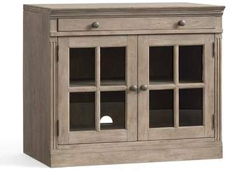 Pottery Barn Livingston Double Glass Door Cabinet with Top