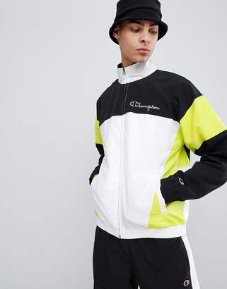 Champion panel track jacket in black