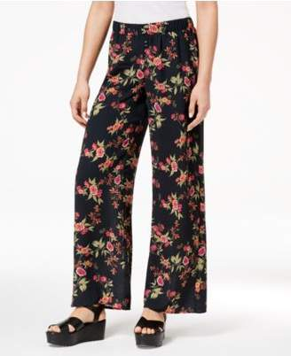 Hippie Rose Juniors' Printed Wide-Leg Soft Pants