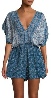 Free People Arizona Printed Romper