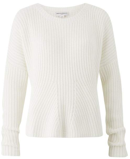 Amanda Wakeley Ecru Chunky Oversized Knitted Sweater