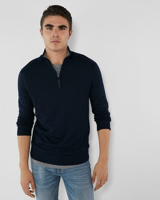 Express Merino Wool Blend Thermal Regulating Mock Neck Sweater