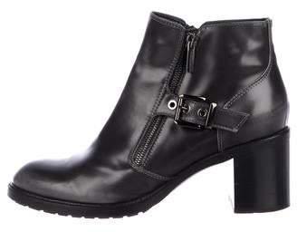 Aquatalia Patent Leather Round-Toe Boots