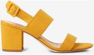 Dorothy Perkins Womens Mustard 'Sadie' Block Heel Sandals