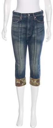 Junya Watanabe Comme des Garçons Cropped Straight-Leg Jeans