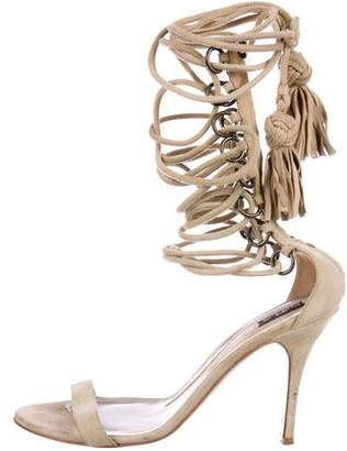 Etro Suede Lace-Up Sandals