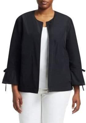 Lafayette 148 New York, Plus Size Johnsie Zip-Up Jacket