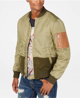 GUESS Men Colorblocked Zip-Front Jacket