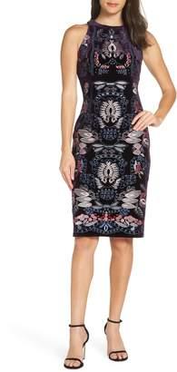 Foxiedox Yolanda Embroidered Sheath Dress