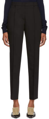Jil Sander Navy Black High-Waisted Trousers