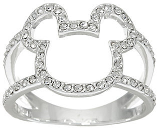 As Is Disney Crystal Open Mickey Design Ring $18.75 thestylecure.com