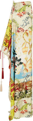 Oscar de la Renta Asymmetric Silk Caftan Dress