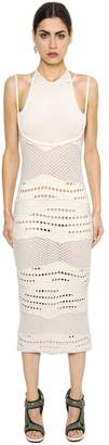 Esteban Cortazar Cotton Knit Crochet Dress