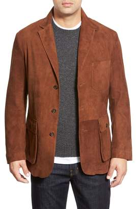GoldenBear Golden Bear Slim Fit Suede Sport Coat