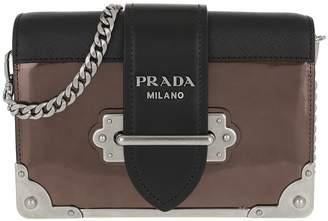 64668e9f4be9 Prada Cahier Shoulder Bag Metallic Leather Cammeo/Nero