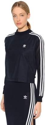 adidas Cropped Sweatshirt W/ Knit Sleeves