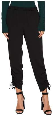 1 STATE 1.STATE Flat Front Side Rouched Pants Women's Casual Pants