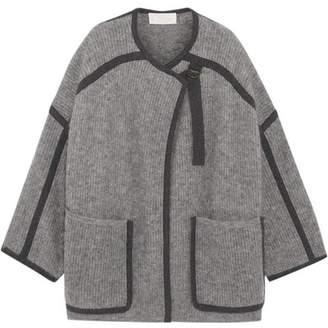 Chloé - Iconic Two-tone Mohair-blend Coat - Light gray