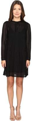 M Missoni Lace Stripe Long Sleeve A-Line Dress Women's Dress