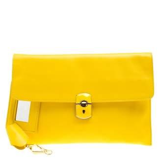 Balenciaga Yellow Leather Clutch bags