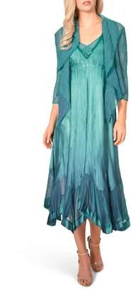 Komarov Embellished Midi Dress with Jacket