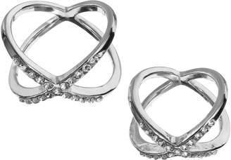 JLO by Jennifer Lopez Crisscross Midi Ring Set
