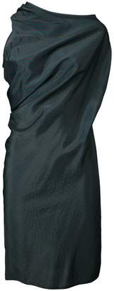 MM6 MAISON MARGIELA striped draped dress