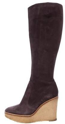 Saint Laurent Knee-High Wedge Boots