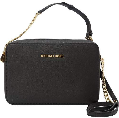 Michael Kors MICHAEL Jet Set Large East/West Crossbody - BLACK - STYLE
