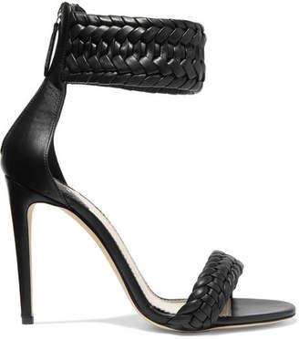 Altuzarra Ghianda Braided Leather Sandals - Black